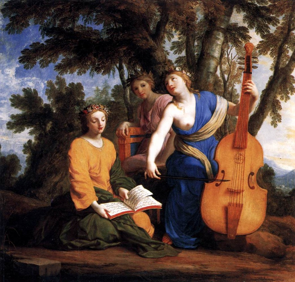 As musas Melpomene, Erato e Poliímnia (Le Suerer, 1652-55)