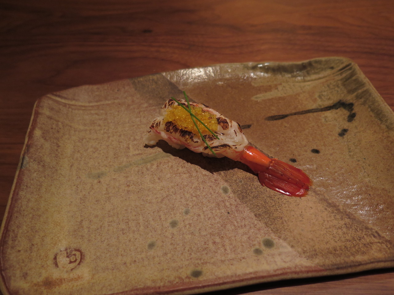 WILD SPOT PRAWN garlic butter, yuzu tobiko, preserved meyer lemon