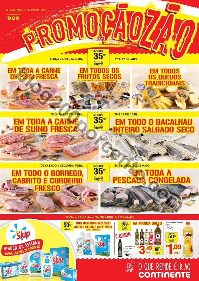 Antevisão Folheto CONTINENTE promoções de 26 ab