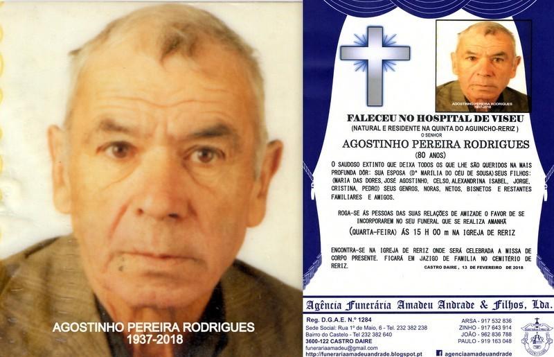 RIP FOTO -AGOSTINHO PEREIRA RODRIGUES-80 ANOS (QUI
