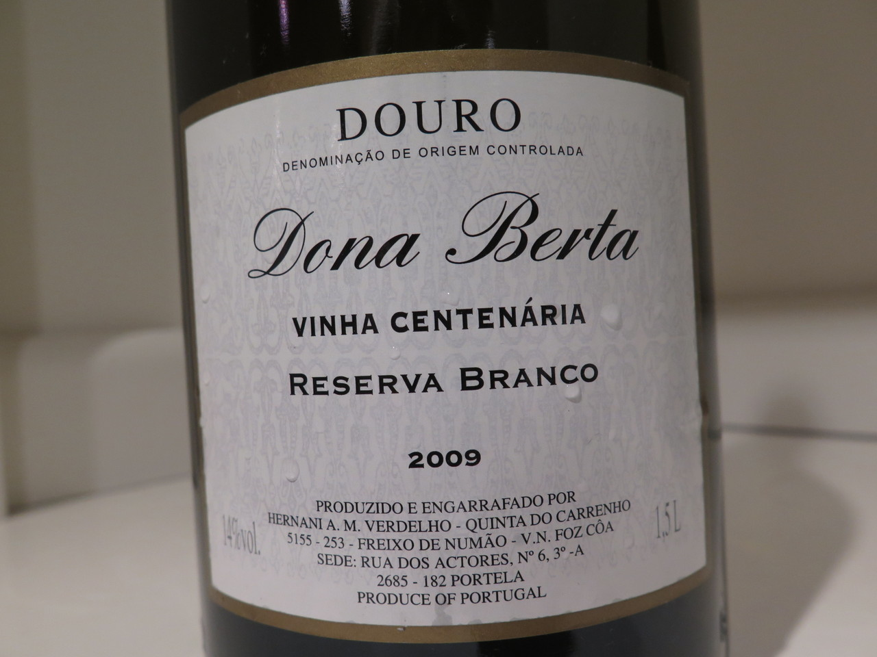 Dona Berta Vinha Centenária Reserva Branco 2009