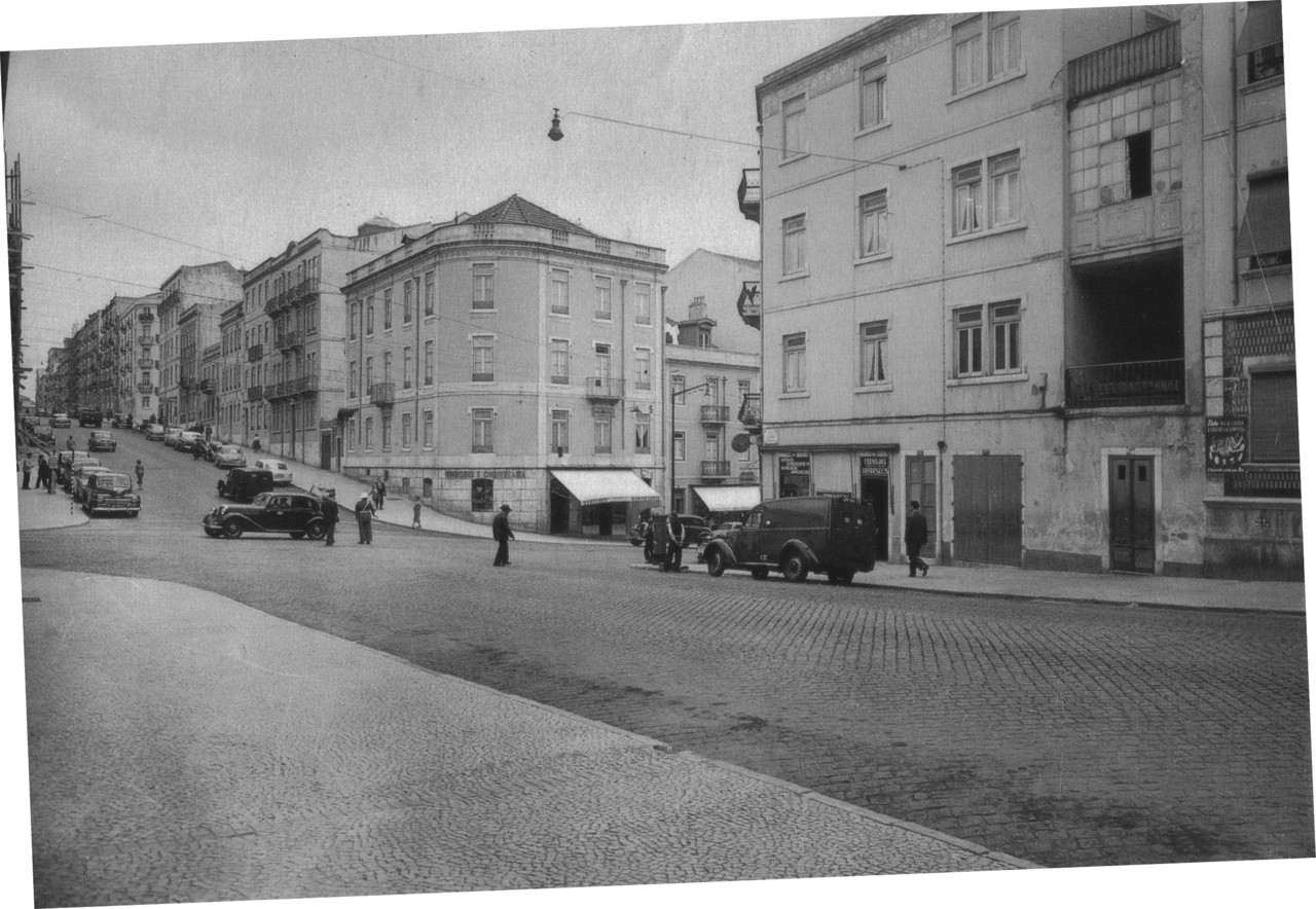 Rua de Luciano Cordeiro ao Conde de Redondo, Lisboa (A. Passaporte, c. 1958)