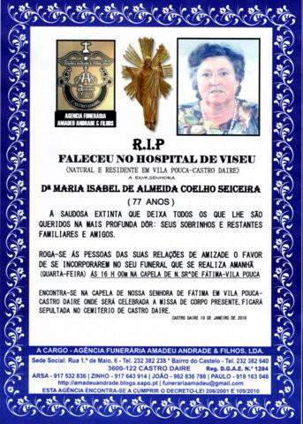 RIP2-MARIA ISABEL DE ALMEIDA COELHO SEICEIRA-77 AN