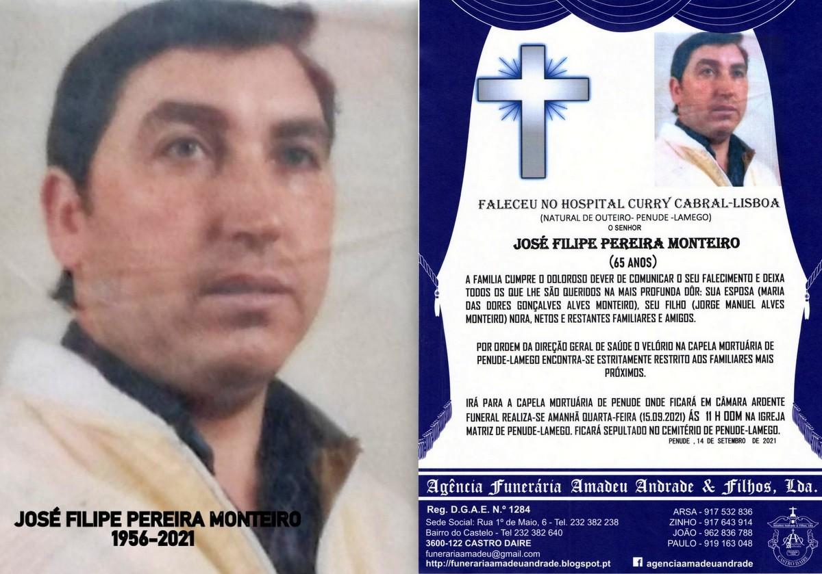 FOTO RIP DE JOSÉ FILIPE PEREIRA MONTEIRO(1956-202