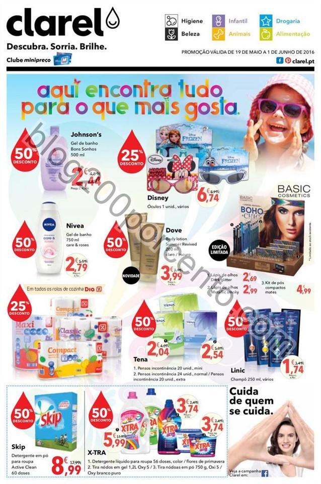 Antevisão Folheto CLAREL promoções de 19 maio a