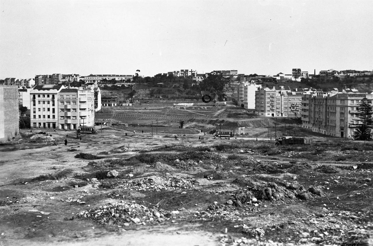 Terrenos da futura Alameda, Lisboa (E. Portugal, 1938)