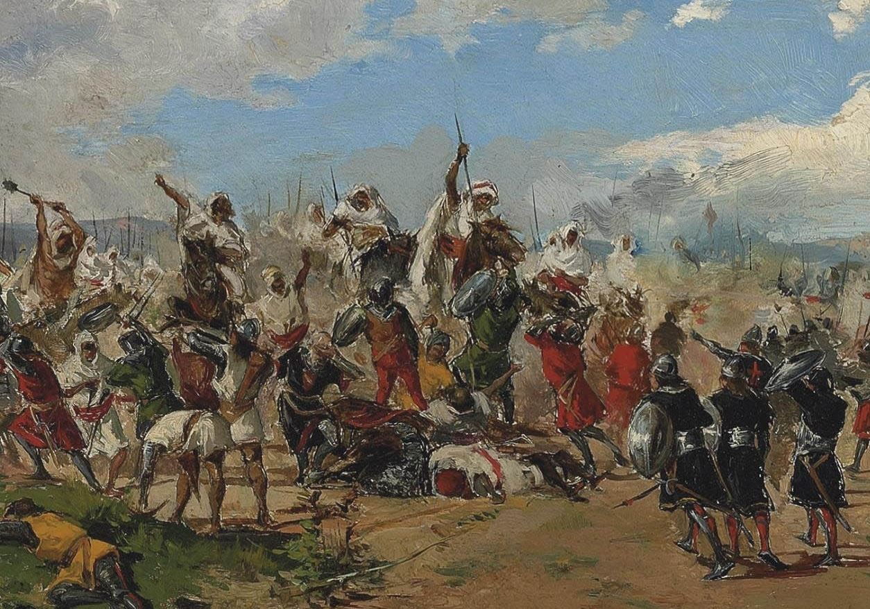Batalha de Guadalete (Mariano Barbasán Langueruela, 1882)
