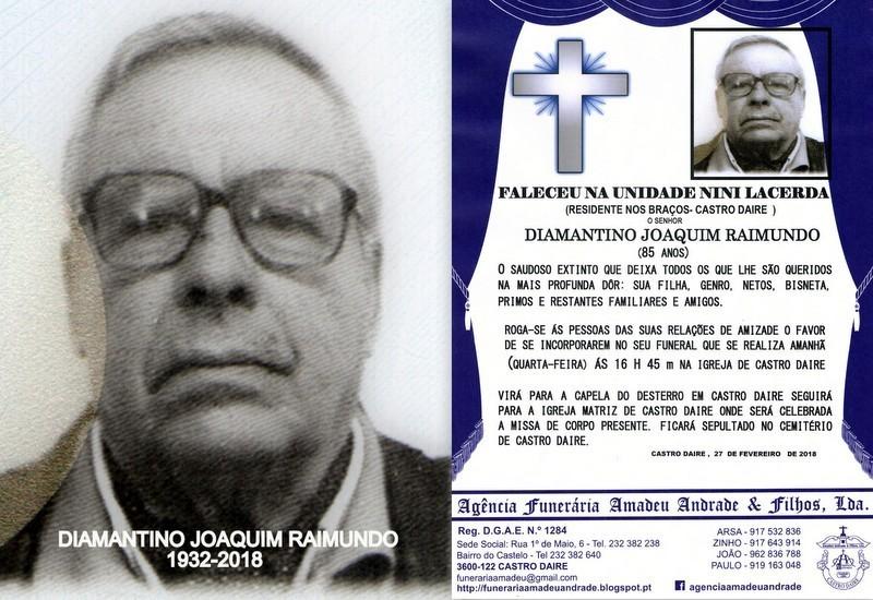 FOTO RIP  DE DIAMANTINO JOAQUIM RAIMUNDO-85 ANOS (