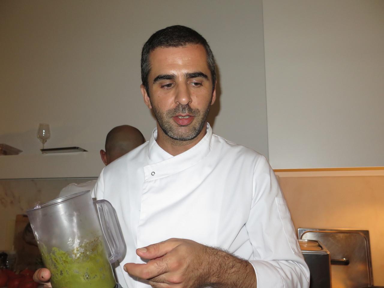 Tiago Feio e o puré de salicórnia