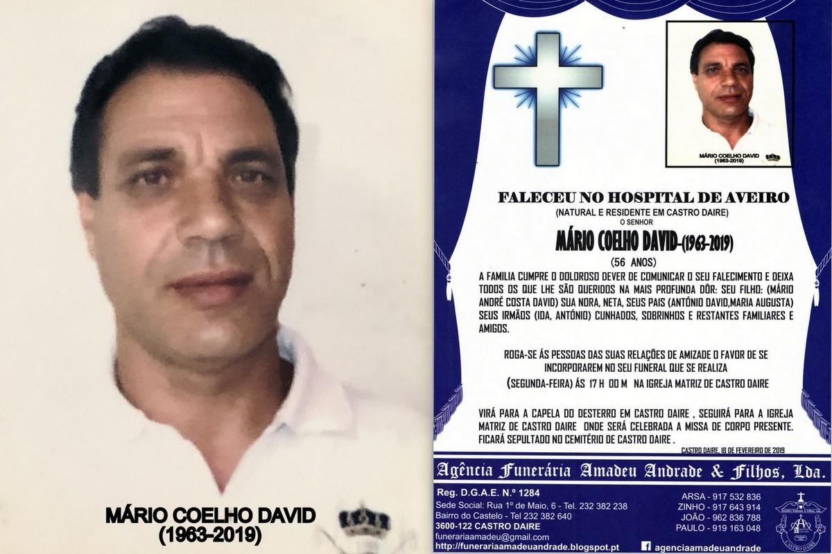 FOTO RIP-DE MÁRIO COELHO DAVID-56 ANOS (VILA POUC
