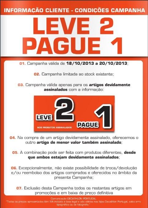 Leve 2 Pague 1   DECATHLON   Condições, de 18 a 20 Outubro