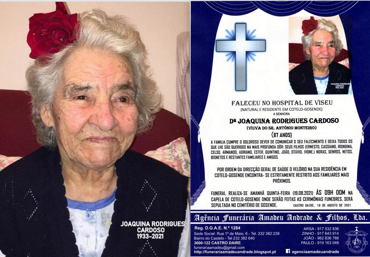 FOTO RIP DE JOAQUINA RODRIGUES CARDOSO-87 ANOS (CO