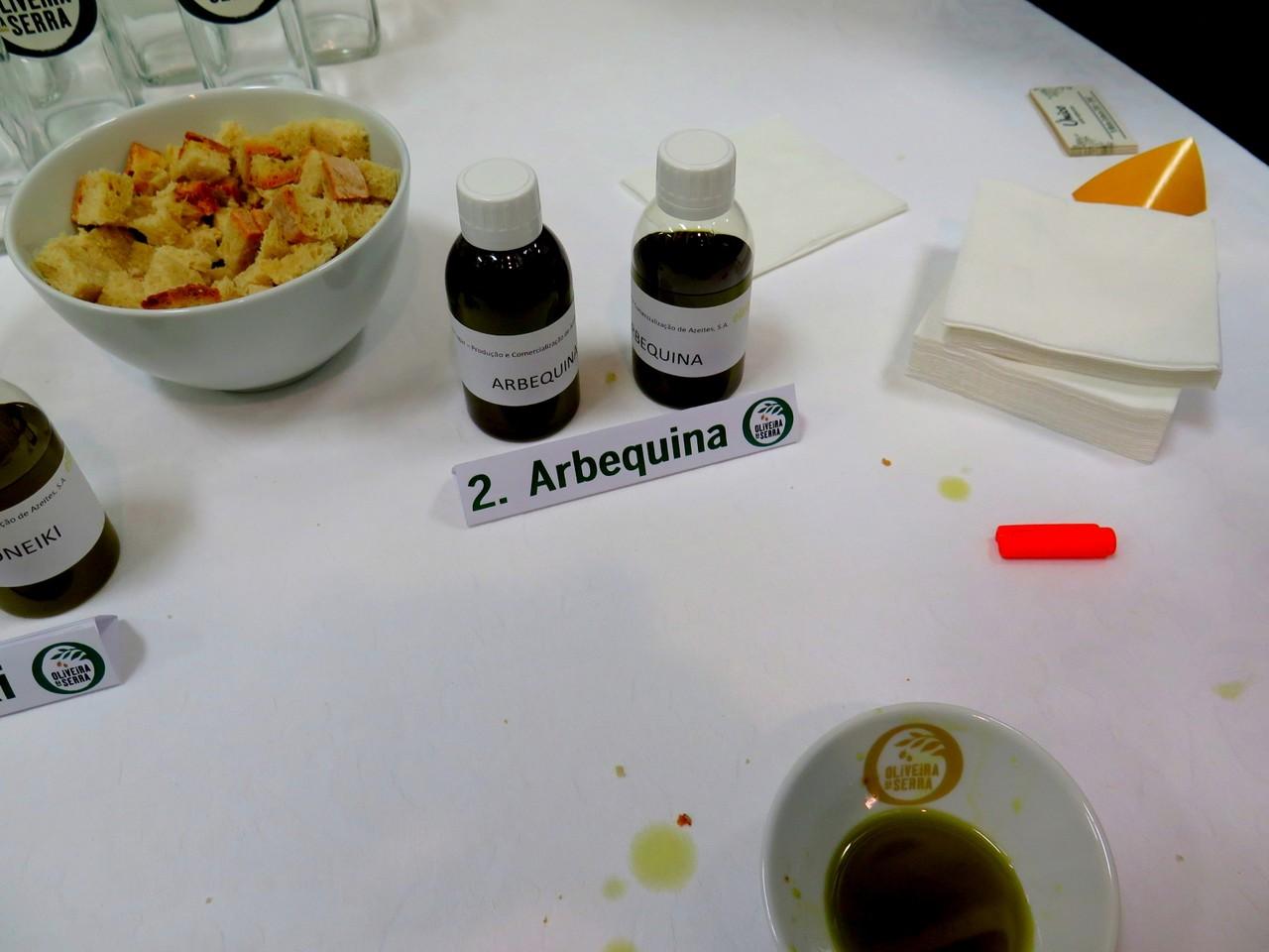 Amostra da variedade Arbequina