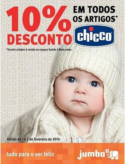 10% desconto | JUMBO | chicco, de 1 a 2 fevereiro