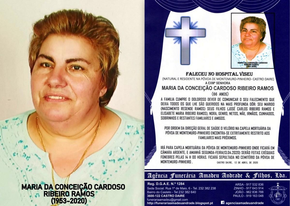 FOTO RIP DE MARIA DA CONCEIÇÃO CARDOSO RIBEIRO R