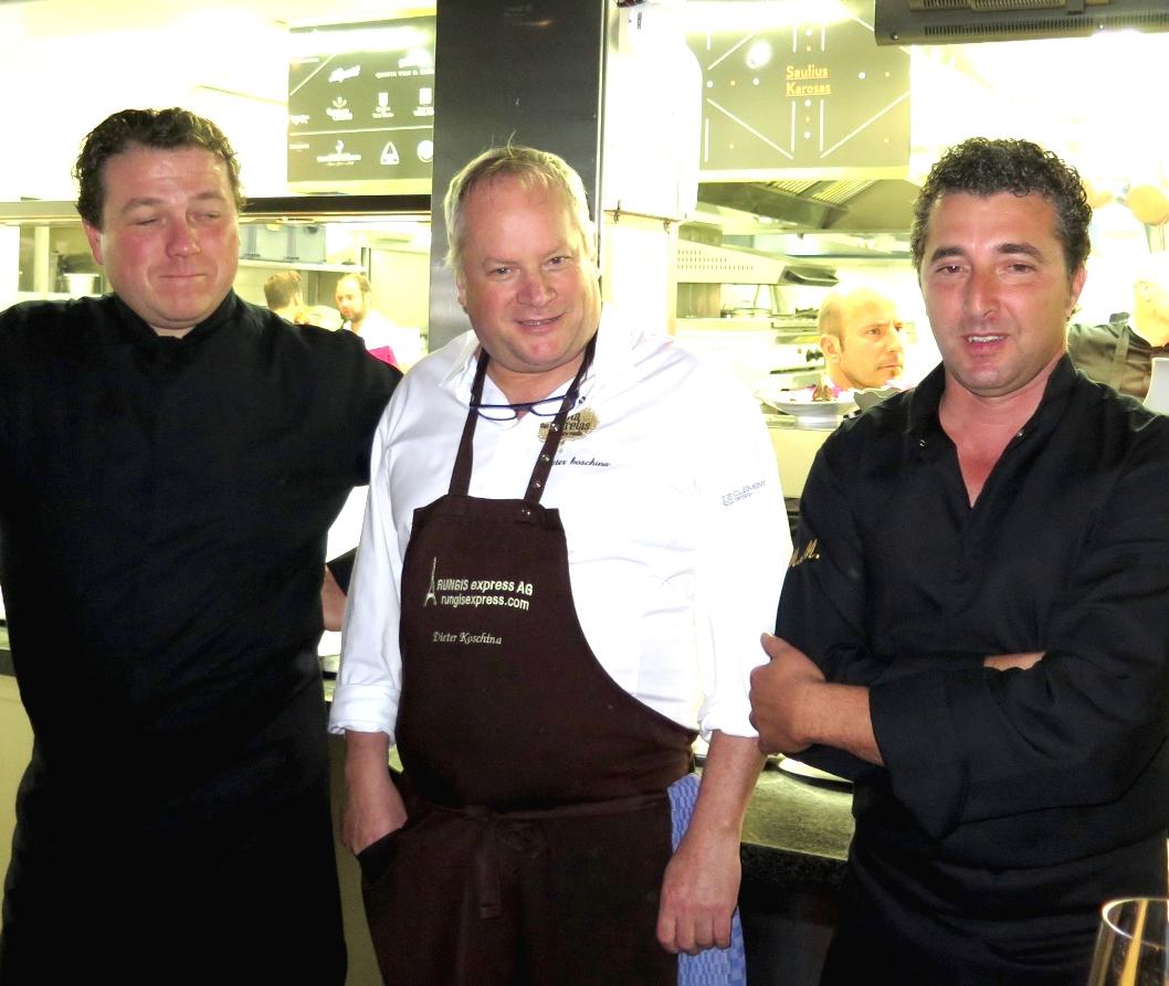 Arnaud Vallet, Dieter Koschina, Hermínio Sanona