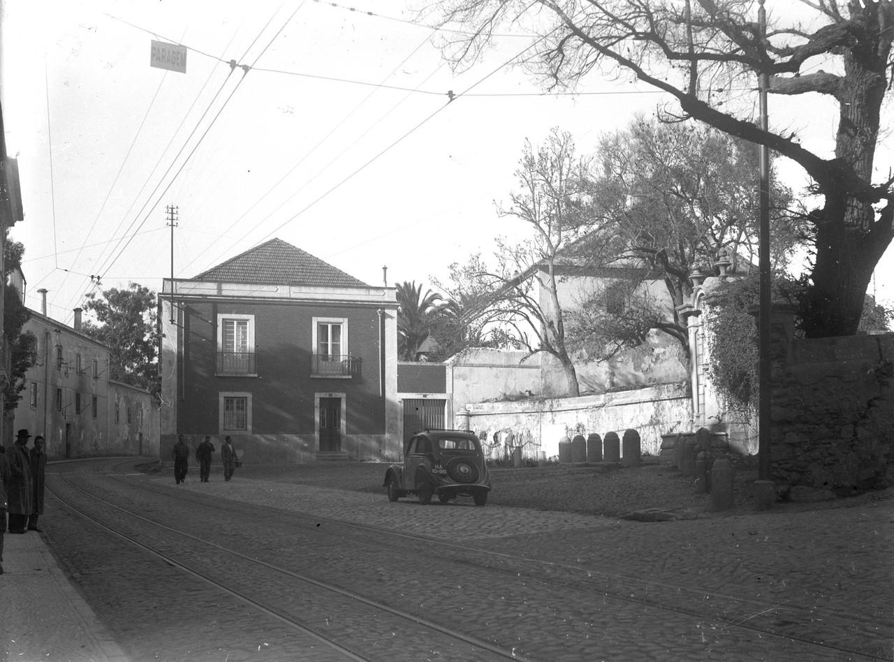 Chafariz das Laranjeiras, Estr. das Laranjeiras (E. Portugal, 1944)