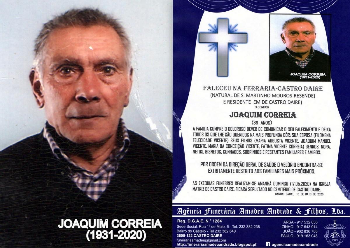 FOTO RIP  DE JOAQUIM CORREIA-89 ANOS(CASTRO DAIRE)