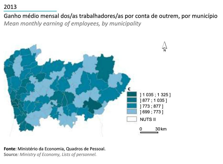 Região Norte em Números INE 2014_ganho medio por