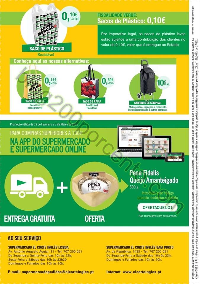 Novo Folheto EL CORTE INGLÉS promoções de 19 fe