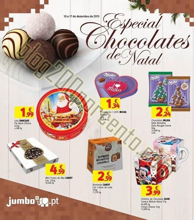 Novo Folheto JUMBO Chocolates de Natal de 10 a 17