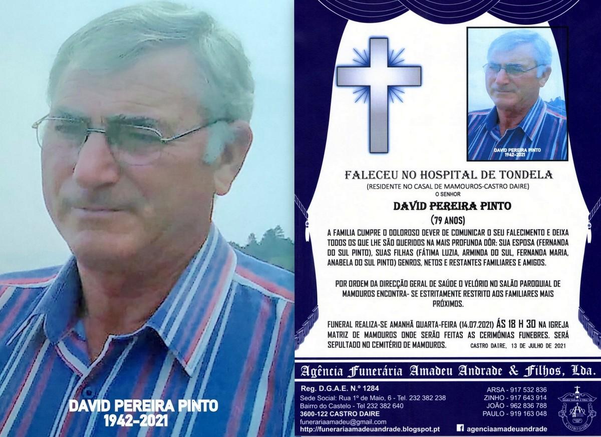 FOTO RIP DE DAVID PEREIRA PINTO-79 ANOS (MAMOUROS)