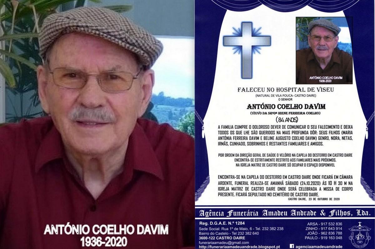 FOTO RIP  DE ANTÓNIO COELHO DAVIM 84 ANOS (VILA P