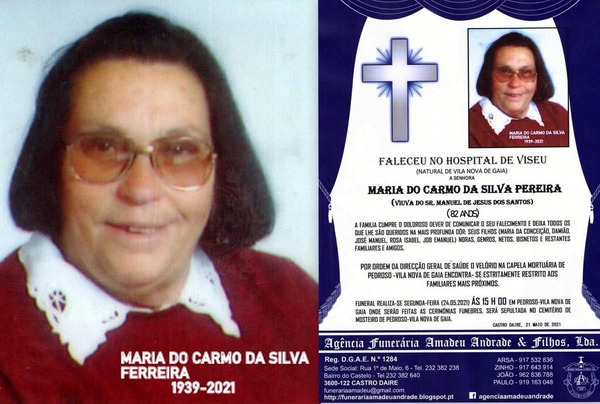 FOTO RIP MARIA DO CARMO DA SILVA PEREIRA-82 ANOS (