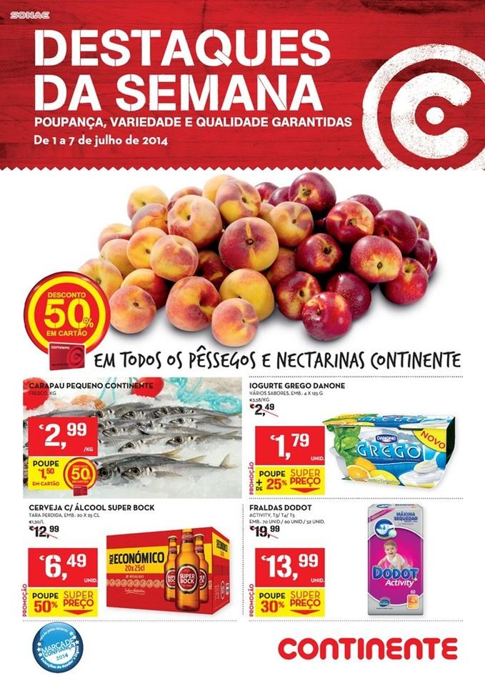 Antevisão Promoções Novo Folheto Continente Online! - de 1 a 7 de Julho - Destaques da Semana