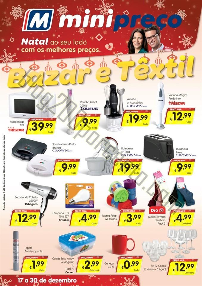 Antevisão Folheto MINIPREÇO Bazar promoções Na