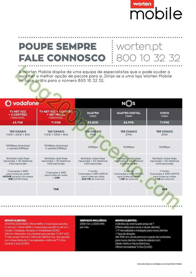 Novo Folheto WORTEN Mobile promoções até 31 mar