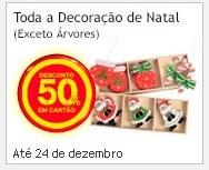 50% de desconto | CONTINENTE | em decorações de natal