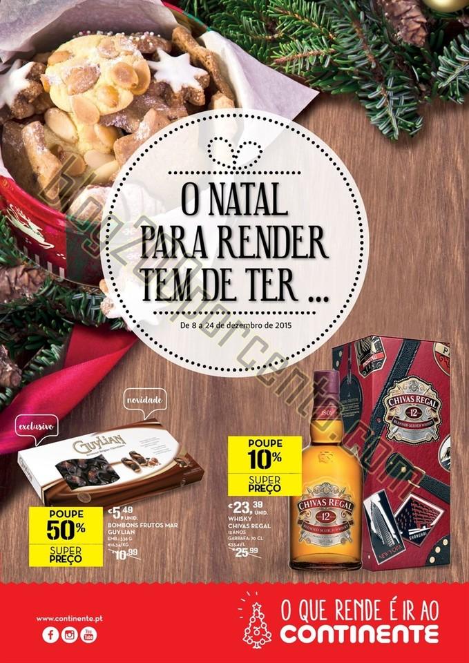 Antevisão folheto CONTINENTE Natal Alimentar de 8