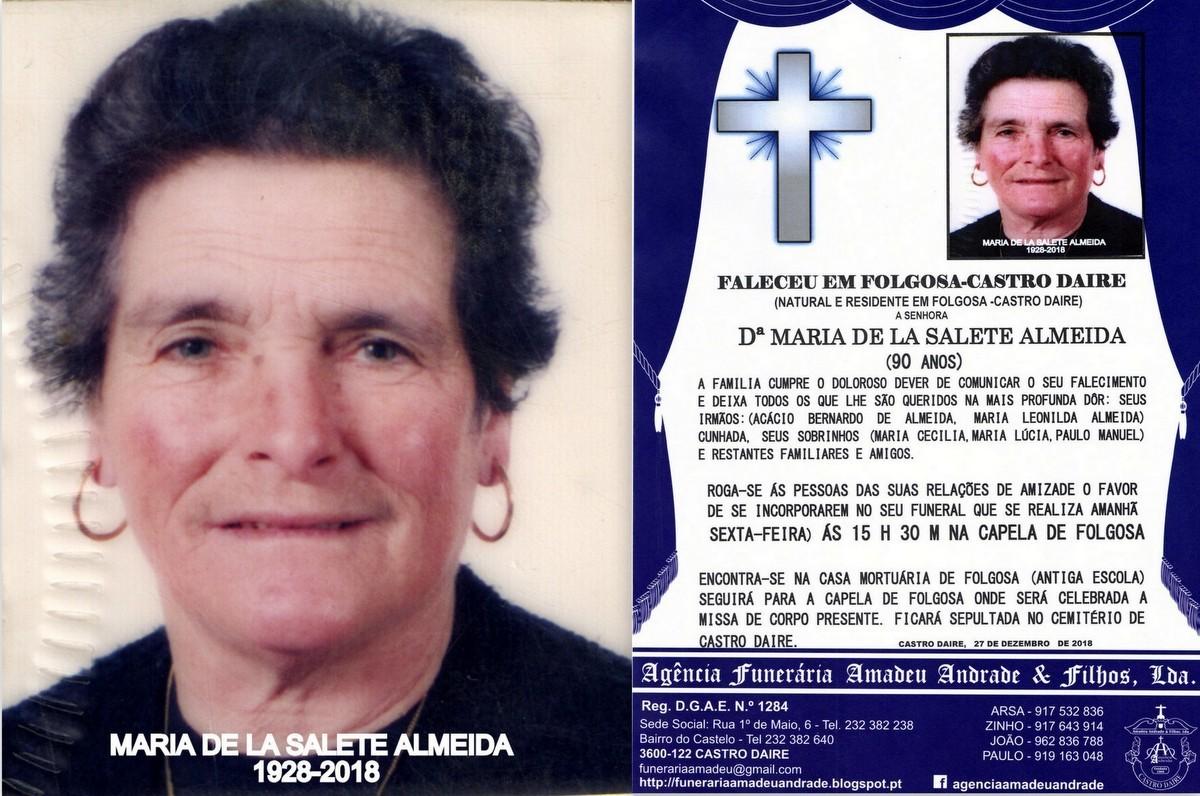 FOTO RIP DE MARIA DE LA SALETE ALMEIDA -90 ANOS (F