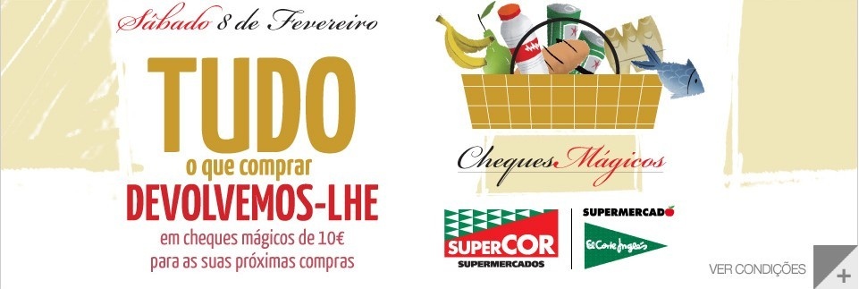 Cheques Mágicos | EL CORTE INGLÉS | só amanhã 8 fevereiro