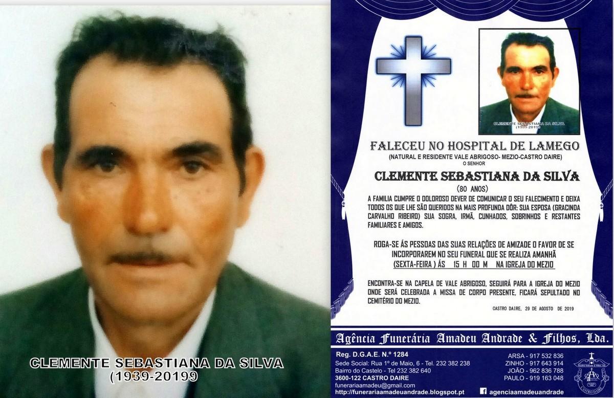 FOTO RIP DE CLEMENTE SEBASTIANA DA SILVA-80 ANOS (