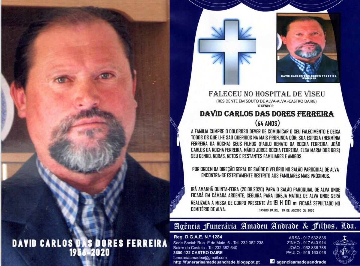 FOTO RIP DE DAVID CARLOS DAS DORES FERREIRA-64 ANO