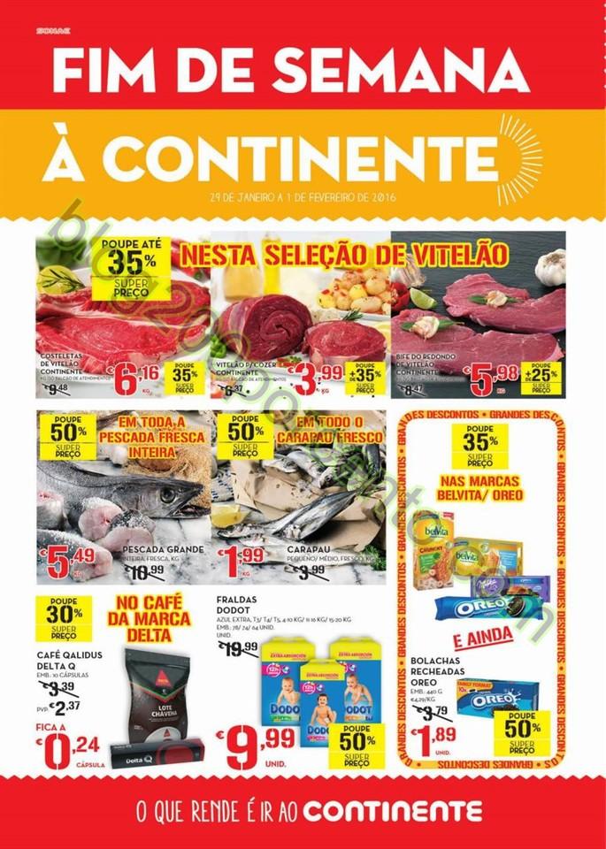 Antevisão Folheto CONTINENTE Fim de semana de 29