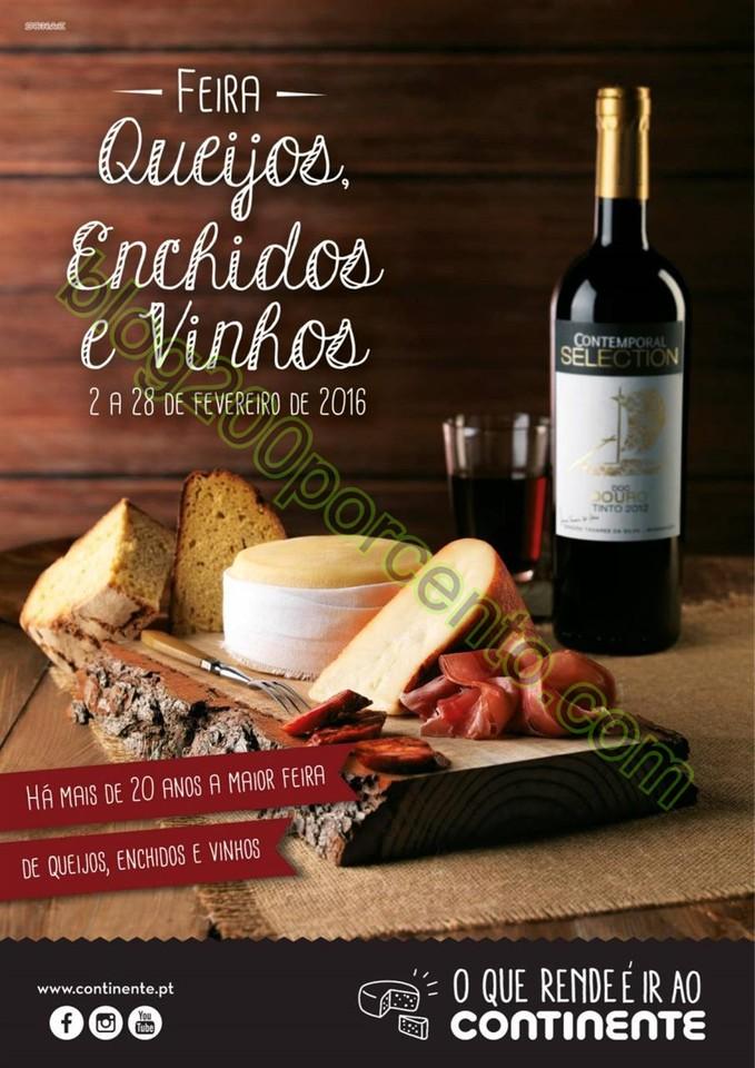 Antevisão Folheto CONTINENTE Feira queijos, enchi