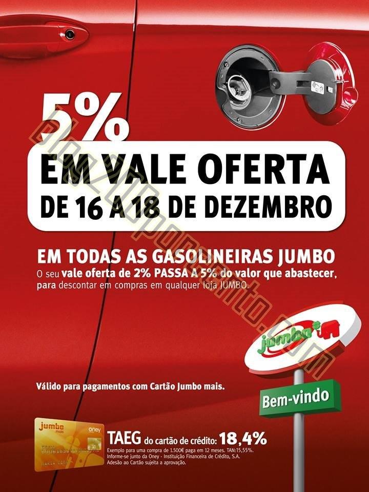 5% de oferta JUMBO combustiveis dias 16 a 18 dezem