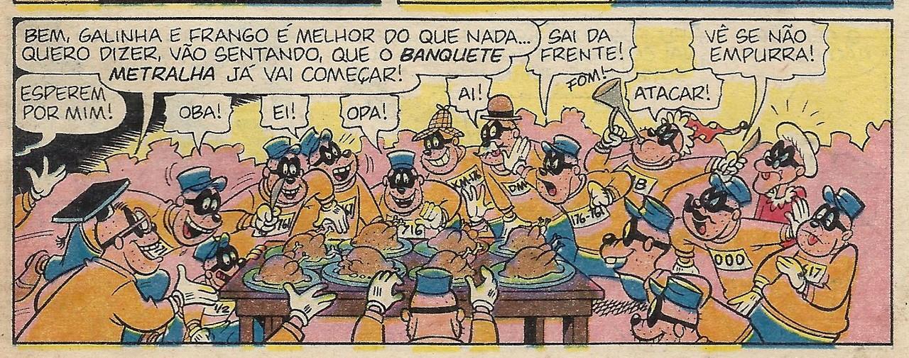 Banquete dos Metralhas, in Ivan Saidenberg, «Histórias comentadas»