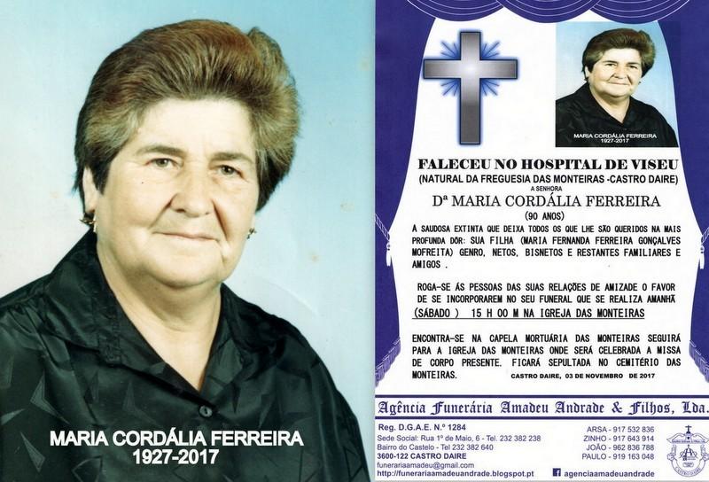 RIP- FOTO -MARIA CORDÁLIA FERREIRA   -90 ANOS (MO