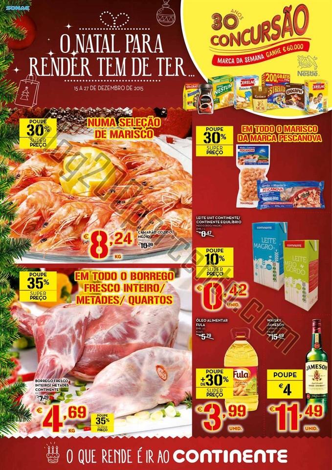 Antevisão Folheto CONTINENTE Semana Natal Promoç