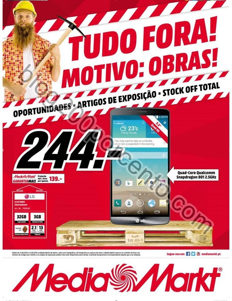 Antevisão Folheto MEDIA MARKT Stock Off Aveiro de