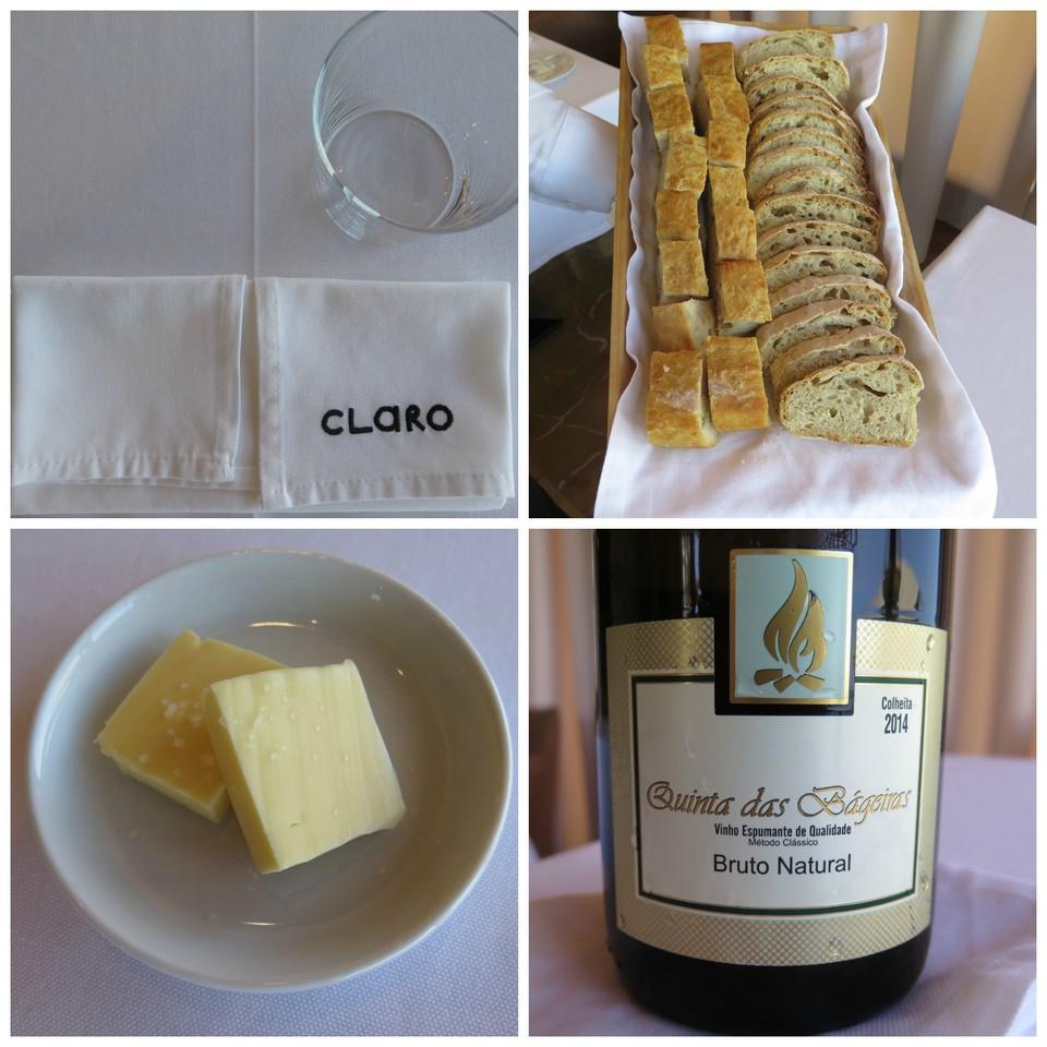 Pão / Manteiga / Quinta das Bágeiras espumante bruto natural