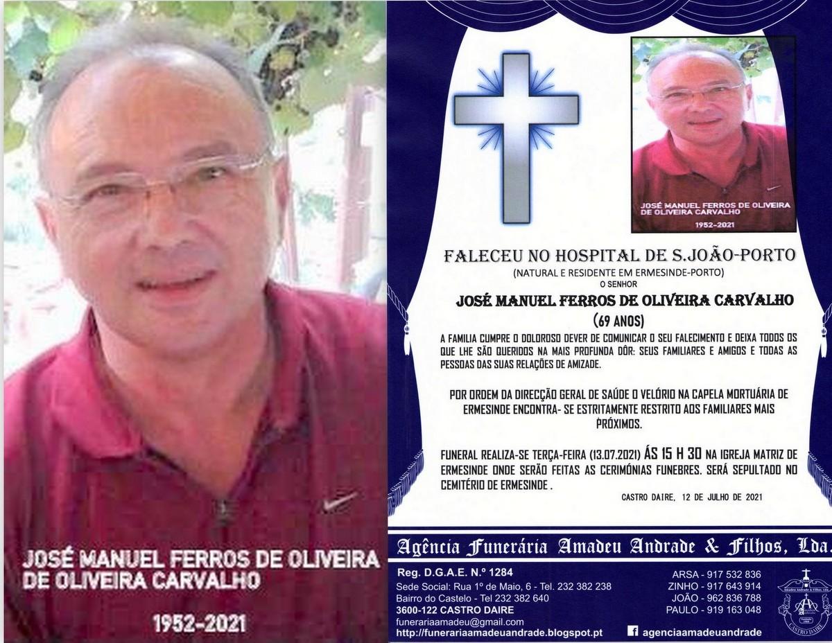 FOTO RIP DE JOSÉ MANUEL FERROS DE OLIVEIRA CARVAL