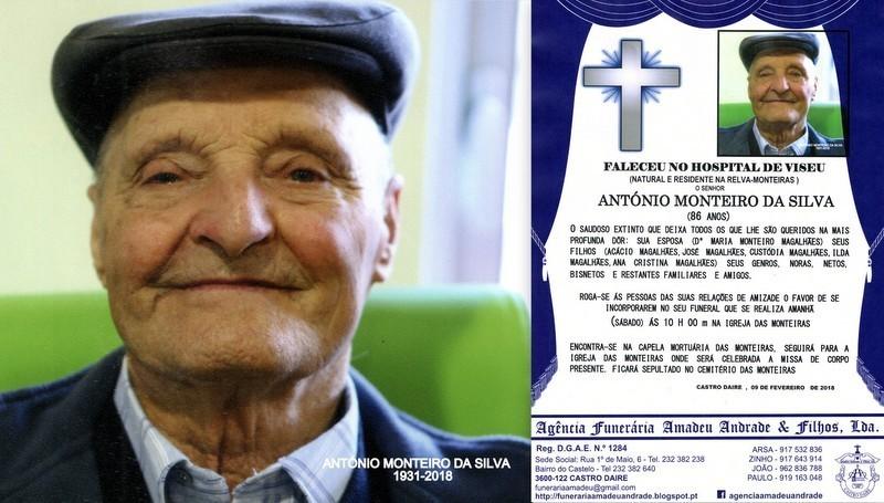 RIP.FOTO -ANTÓNIO MONTEIRO DA SILVA -86 ANOS (REL