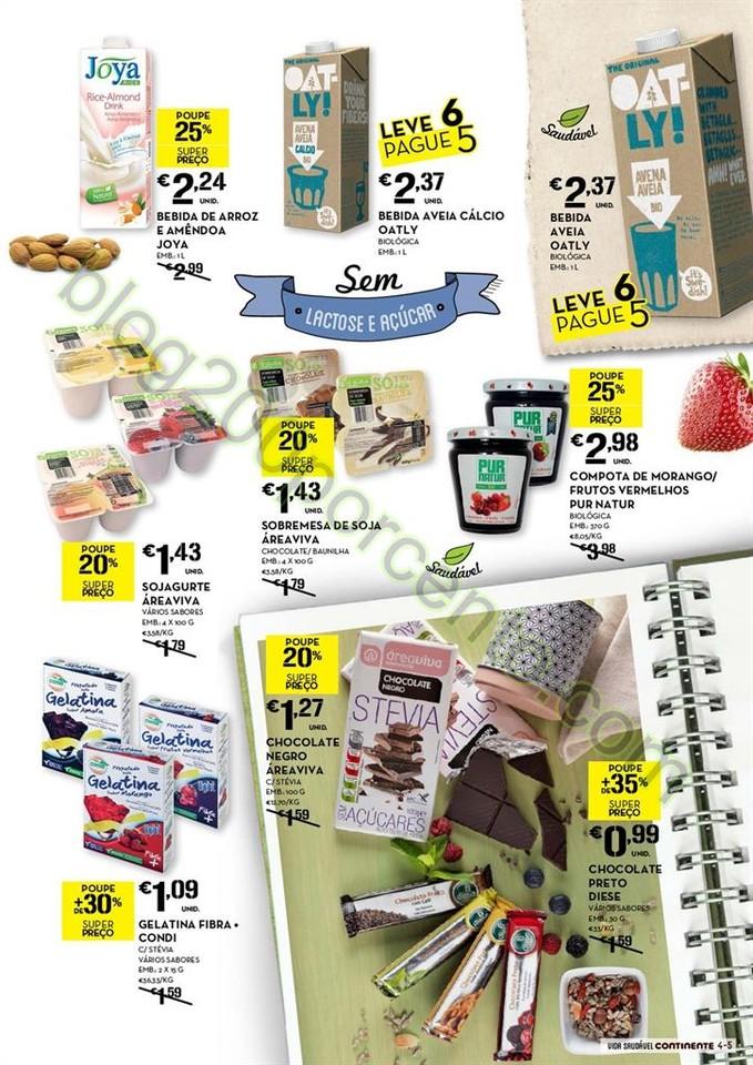 Novo Folheto CONTINENTE Alimentação saudável de