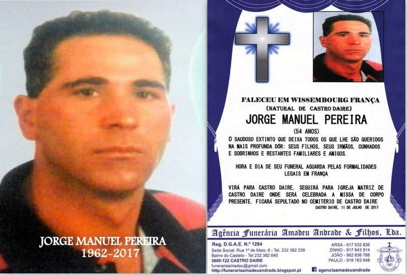 FOTO E RIP-JORGE MANUEL PEREIRA  -54 ANOS (CASTRO