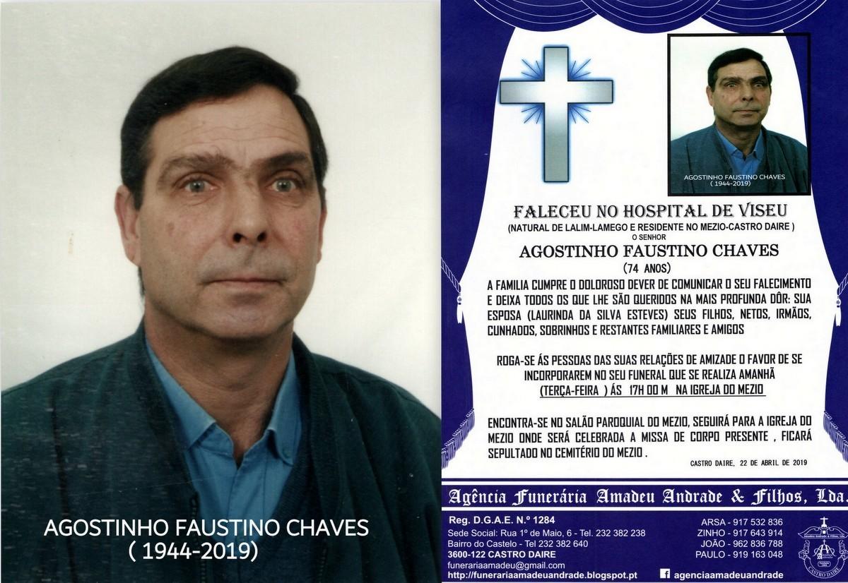 FOTO RIP  DE AGOSTINHO FAUSTINO CHAVES-74 ANOS (ME